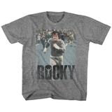 Rocky Am Doing a Run Graphite Heather Toddler T-Shirt