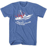 Jaws Bigger Boat Royal Heather Adult T-Shirt