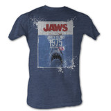 Jaws Population Navy Heather Adult T-Shirt
