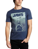 Jaws Green Jaws Navy Heather Adult T-Shirt