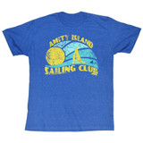 Jaws Sail Royal Heather Adult T-Shirt