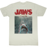 Jaws Terrifying Natural Adult T-Shirt