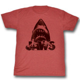 Jaws Burnt Jaws Red Adult T-Shirt