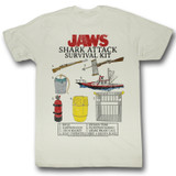 Jaws Survival Kit Natural Adult T-Shirt