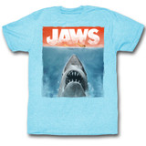 Jaws Colors Light Blue Heather Adult T-Shirt