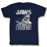 Jaws Real Big Navy Adult T-Shirt