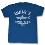 Jaws Quint's Royal Heather Adult T-Shirt