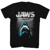 Jaws Lichtenstein Black Adult T-Shirt