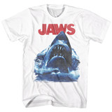 Jaws Bad Waves White Adult T-Shirt
