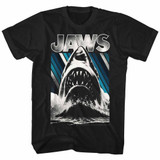 Jaws Black Adult T-Shirt