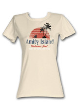 Jaws Amity Island Natural Junior Women's T-Shirt