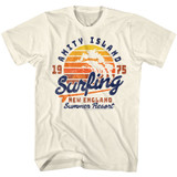 Jaws Amity Surfing Natural Adult T-Shirt