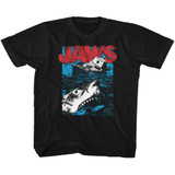 Jaws Great White Black Youth T-Shirt