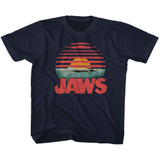 Jaws Sliced Navy Youth T-Shirt