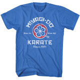 Karate Kid New Miyagi Do Karate Royal Adult T-Shirt