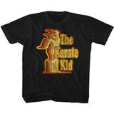 Karate Kid Retro Kid Black Youth T-Shirt