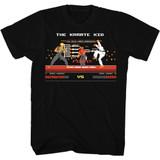Karate Kid Fight Black Adult T-Shirt