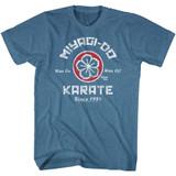 Karate Kid Miyagi Do Karate Pacific Blue Heather Adult T-Shirt