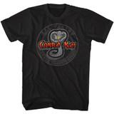 Karate Kid All Valley Cobra Kai Black Adult T-Shirt