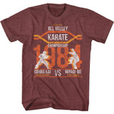 Karate Kid All Valley Champ Maroon Heather Adult T-Shirt
