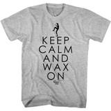 Karate Kid Keep Calm Gray Heather Adult T-Shirt