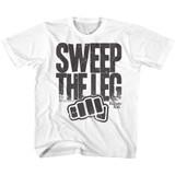 Karate Kid Sweep The Leg White Toddler T-Shirt