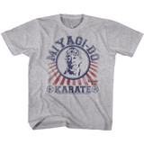 Karate Kid Miyagi Gray Heather Youth T-Shirt