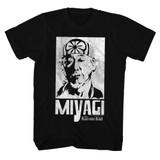 Karate Kid Miyagi Black Adult T-Shirt