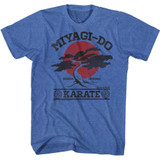 Karate Kid Miyagi Do It Again Royal Heather Adult T-Shirt