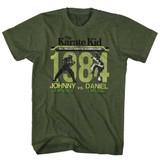 Karate Kid Fight Kelly Heather Adult T-Shirt