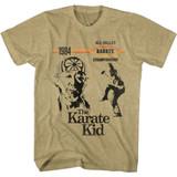 Karate Kid 1984 Champions Khaki Heather Adult T-Shirt