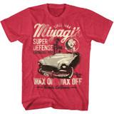 Karate Kid Miyagi Wax Cherry Heather Adult T-Shirt