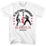 Karate Kid All Valley '84 White Adult T-Shirt