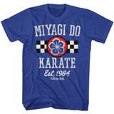 Karate Kid Miyagi Do Karate Royal Adult T-Shirt
