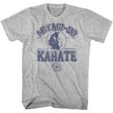 Karate Kid Miyagi Do Karate Gray Heather Adult T-Shirt