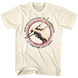 Karate Kid Accomplish Anything Natural Adult T-Shirt