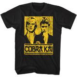 Karate Kid Johnny And Kreese Black Adult T-Shirt