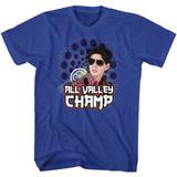 Karate Kid Champ Royal Adult T-Shirt