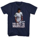 Major League Marbles Navy Adult T-Shirt