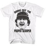 Major League Scooper White Adult T-Shirt