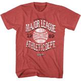 Major League Vintage Major League Red Heather Adult T-Shirt