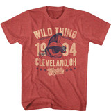 Major League Vintage Wild Thing Red Heather Adult T-Shirt