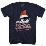 Major League Baller Navy Adult T-Shirt