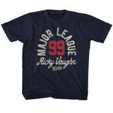 Major League Ricky Vaughn Navy Youth T-Shirt