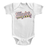 Major League Logo White Baby Onesie T-Shirt