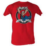 Popeye Born To Skate Red Adult T-Shirt