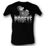 Popeye Hoodie Black Adult T-Shirt