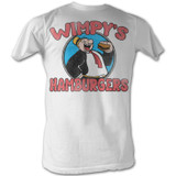 Popeye Wimpy's Burgers White Adult T-Shirt