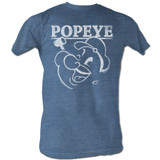 Popeye Pacific Blue Heather Adult T-Shirt