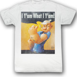 Popeye Guess What White Adult T-Shirt